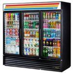 True GDM-72-HC-TSL01-BLK Black Swing Glass Door Merchandiser 72.0 cu.ft. 78-1/8W