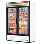 True GDM-49F-HC-LD-WHT White Ice Cream Merchandiser Freezer 49.0 cu.ft.