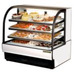 True Curved Glass Refrigerated Bakery Display Case 23.7 cu.ft