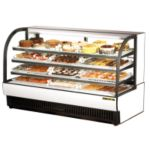 True Curved Glass Refrigerated Bakery Display Case 37.2 cu.ft.