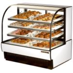 True Curved Glass Non-Refrigerated & Dry Bakery Display Case 23.7 cu.ft.