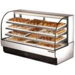 True Curved Glass Non-Refrigerated & Dry Bakery Display Case 37.2 cu.ft.