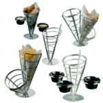Single Stainless Cone Basket - STOCKED ITEM