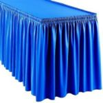 Shirred White Fitted Table Skirt 6' x 30 x 30