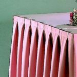 TruFinish Classic Twill White Box Pleat Table Skirting 17.5'