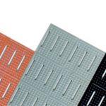 Black 24 Slotted Anti-Slip Mat 1/4 Thick