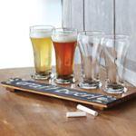 Crushed Bamboo Write-On Beer Flight- <B>SHIPPING & HANDLING PREPAID</B>