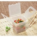 Eco-Takeout, 4 X 4 Jade Single Compartment, Case of 12 - STOCKED ITEM
