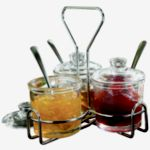 Chrome Condiment Rack, Case of 4 - STOCKED ITEM