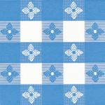 Classic Series Vinyl Tablecloth Check, Blue/White 52 x 52 - STOCKED ITEM