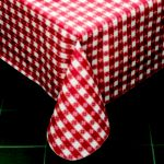 Classic Series Vinyl Tablecloth Check, Red/White 52 x 52 - STOCKED ITEM