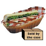 Natural Woven Baskets, Oblong, 5 x 13 x 3 36 per case . - STOCKED ITEM