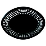 Jumbo Oval Basket Black 11-3/4 x 8-7/8 x 1-7/8H Black - STOCKED ITEM