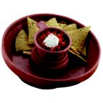 Chip Server, 10 diameter x 2-1/2D Paprika - STOCKED ITEM