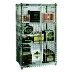 Full Size Security Storage Units Stationary 38 W - Chrome