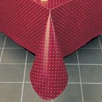 52 X 52 Vinyl Maroon Table Cover - STOCKED ITEM