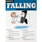 Safety Poster, Falling/Slipping - STOCKED ITEM